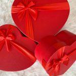 """Boite Cadeau """"VIDE"""" Rouge"""